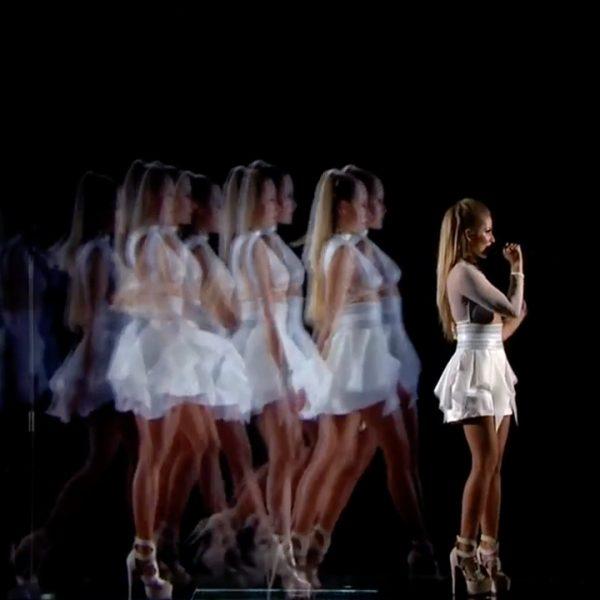 Ginta Biku Holographic Performance Eurovision 2017
