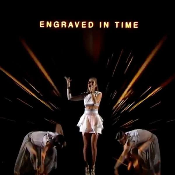 Ginta Biku Holographic Performance - Eurovision 2017