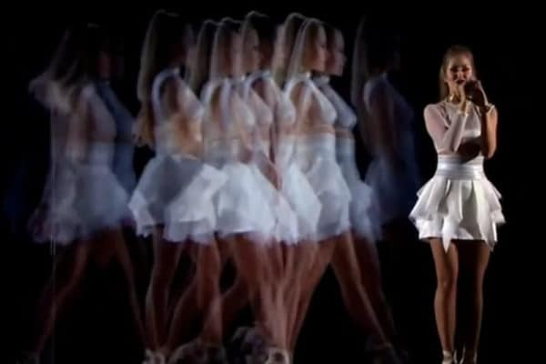 Ginta Biku Eurovision Holographic Performance